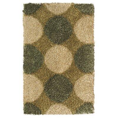 Pearl Green / Beige Area Rug Rug Size: 5 x 8