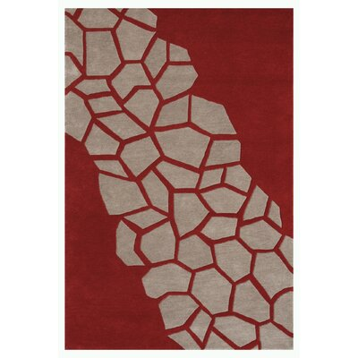 Riviera Dark Red Area Rug Rug Size: 79 x 106