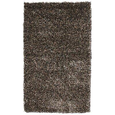 Sheen Black/Ivory Rug Rug Size: 4 x 6
