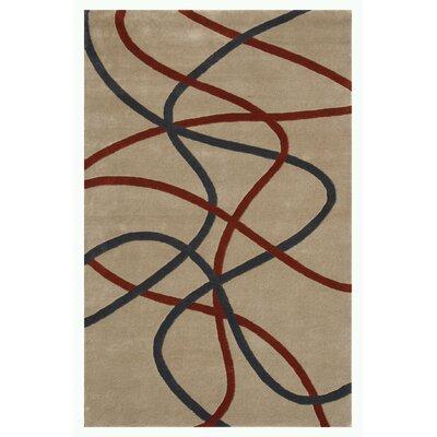 Swirl Ivory Area Rug Rug Size: 5 x 76