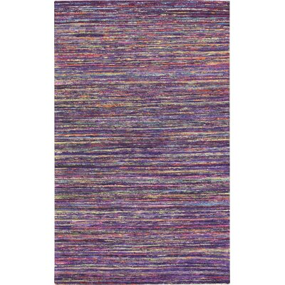 Rainbow Dark Purple Area Rug Rug Size: 5 x 8