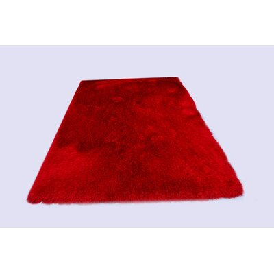 Milan Red Area Rug Rug Size: 79 x 99