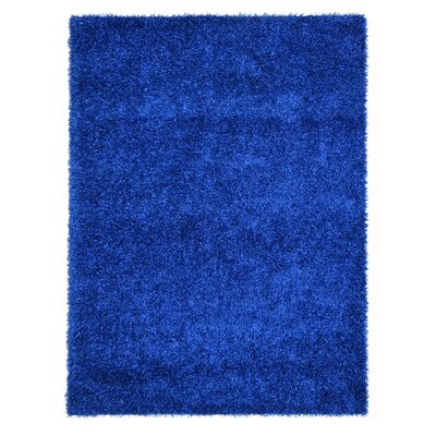 Sara Faux Leather Blue Area Rug Rug Size: 4 x 6
