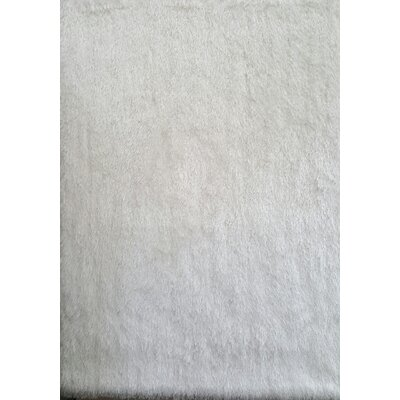 Milan White Area Rug Rug Size: 79 x 99