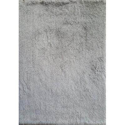 Milan Silver Area Rug Rug Size: 79 x 99