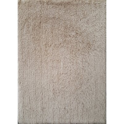 Milan Beige Area Rug Rug Size: 79 x 99