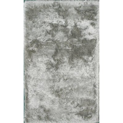 Crystal Silver Area Rug Rug Size: 8 x 11