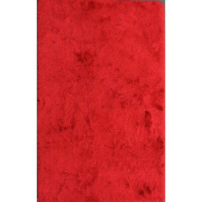 Crystal Solid Red Area Rug Rug Size: 4 x 6