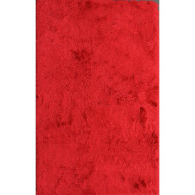 Crystal Solid Red Area Rug Rug Size: 5 x 8