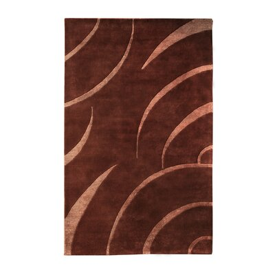 Citadel Brown/Peach Rug Rug Size: 8 x 11