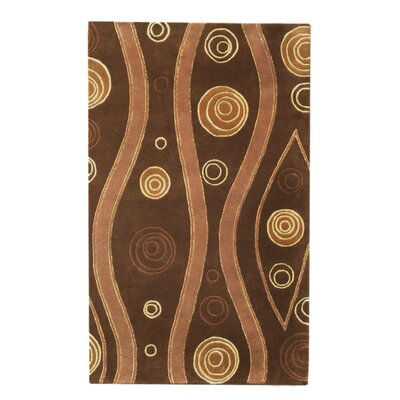 Citadel Dark Brown Rug Rug Size: 5 x 8