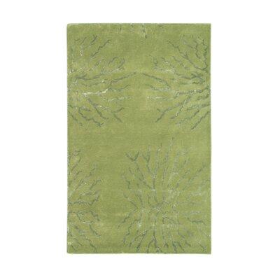 Citadel Green Rug Rug Size: 8 x 11