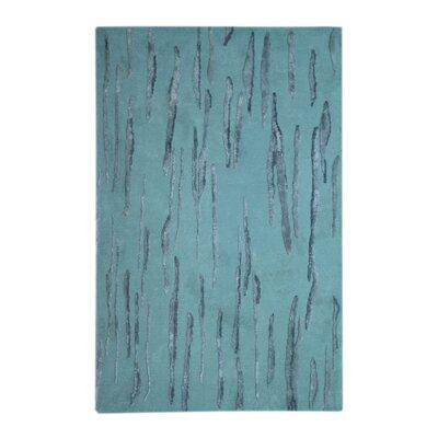 Citadel Light Blue Rug Rug Size: 5 x 8