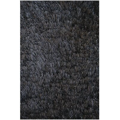 Crystal Solid Black Area Rug Rug Size: Rectangle 8 x 11