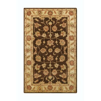 Golden Brown/Beige Area Rug Rug Size: 5 x 8