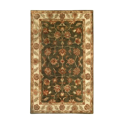 Golden Dark Green/Beige Area Rug Rug Size: 5 x 8