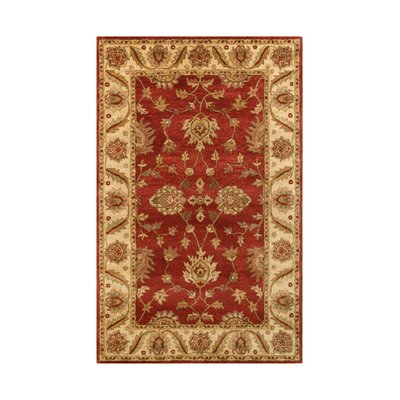 Golden Red/Gold Area Rug Rug Size: Runner 23 x 8