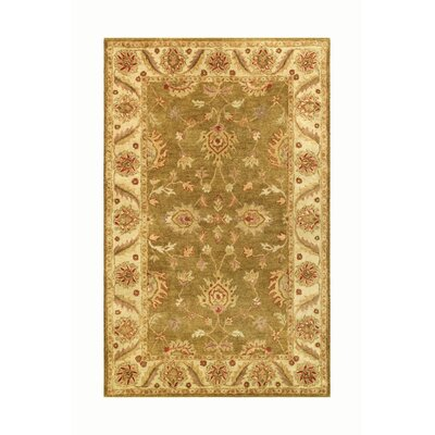 Golden Green/Gold Area Rug Rug Size: Runner 23 x 8
