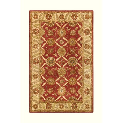 Golden Rust/Beige Area Rug Rug Size: 36 x 56