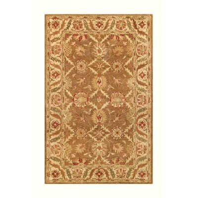 Golden Gold/Beige Area Rug Rug Size: 8 x 11