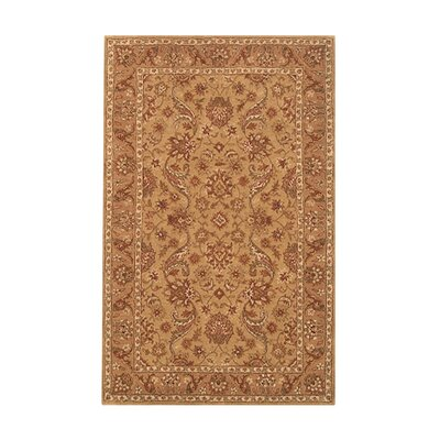 Harmony Beige/Camel Floral Area Rug Rug Size: 8 x 11