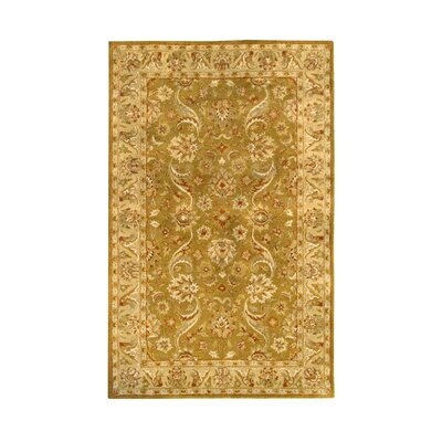 Harmony Gold Floral Area Rug Rug Size: 8 x 11