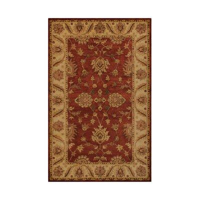 Imperial Burgundy/Camel Area Rug Rug Size: 36 x 56