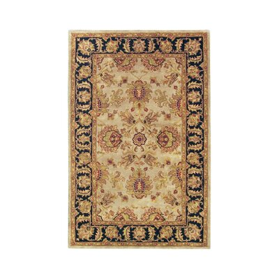 Imperial Camel/Blue Area Rug Rug Size: 36 x 56