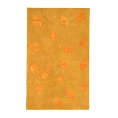 Florence Gold/Tangerine Area Rug Rug Size: 5 x 8