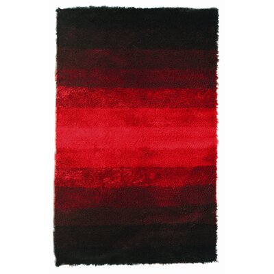 Jewel Black/Red Rug Rug Size: 5 x 8