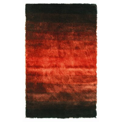 Jewel Black/Rust Rug Rug Size: 5 x 8