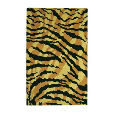 Safari Gold/Black Rug Rug Size: 8' x 11'