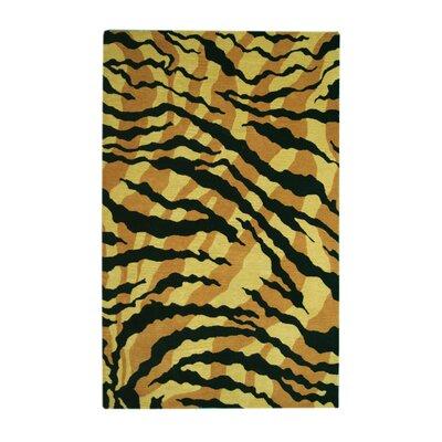 Safari Gold/Black Rug Rug Size: 8' x 11'