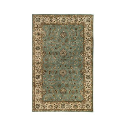 Vintage Light Blue/Beige Rug Rug Size: Runner 23 x 8