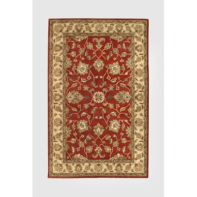 Vintage Red/Gold Rug Rug Size: Runner 23 x 8