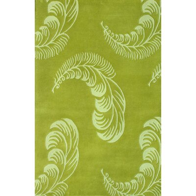 Floral Light Green Area Rug Rug Size: 8 x 11