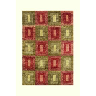 Legacy Green/Rust Rug Rug Size: 6 x 9