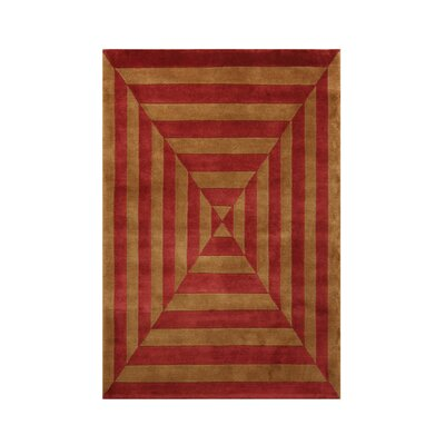 Noble Gold/Rust Area Rug Rug Size: 4 x 6