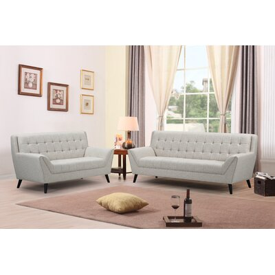 Adore Sofa and Loveseat Set Upholstery: Beige