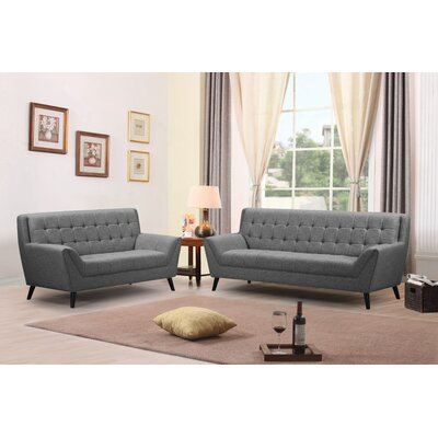 Adore Sofa and Loveseat Set Upholstery: Gray