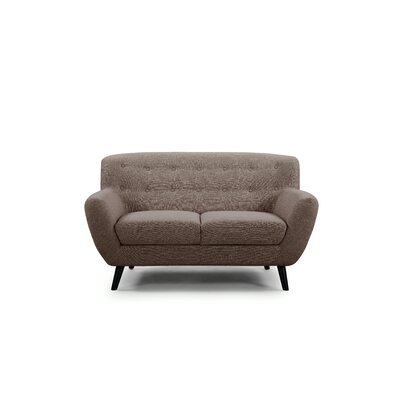 Darwin Loveseat Upholstery: Brown