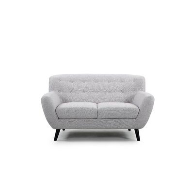 Darwin Loveseat Upholstery: Light Gray