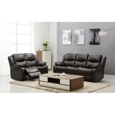 Madison 2 Piece Living Room Set Upholstery: Brown