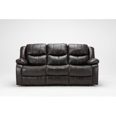 Madison Recliner Reclining Sofa Upholstery: Brown