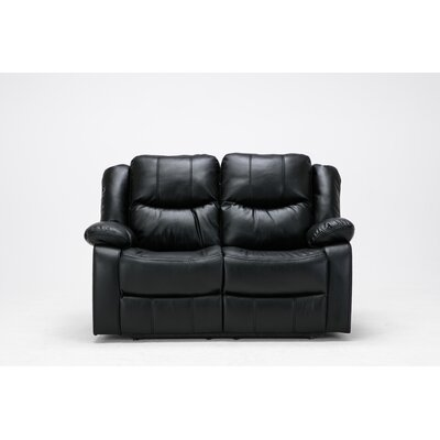 Madison Recliner Reclining Loveseat Upholstery: Black