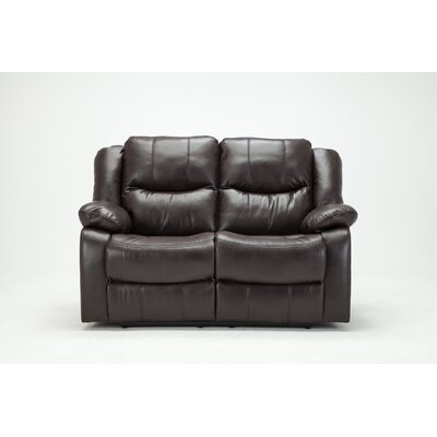 Madison Recliner Reclining Loveseat Upholstery: Brown