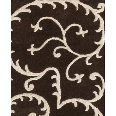 Amber Brown & Beige Area Rug Rug Size: 8 x 11