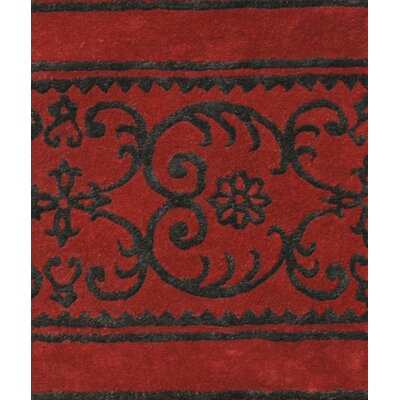 Amber Red Area Rug Rug Size: 5 x 8