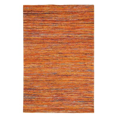 Rainbow Orange Area Rug Rug Size: 5 x 8