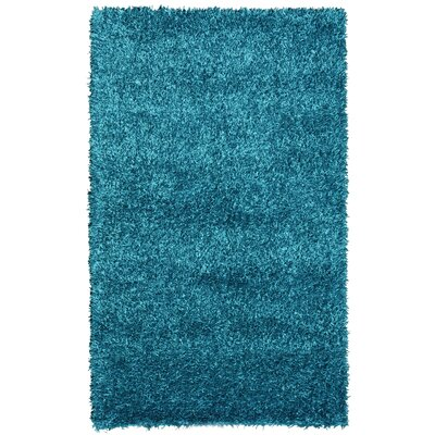 Sara Hand Woven Turquoise Area Rug Rug Size: 4 x 6